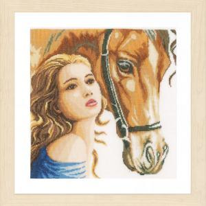 Lanarte Borduurpakket - Vrouw met Paard