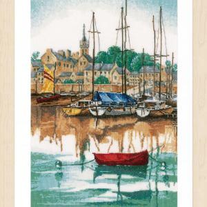 Lanarte Borduurpakket - Jachthaven bij Zonsopgang