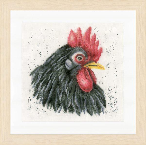 Lanarte Borduurpakket - Zwarte Kip