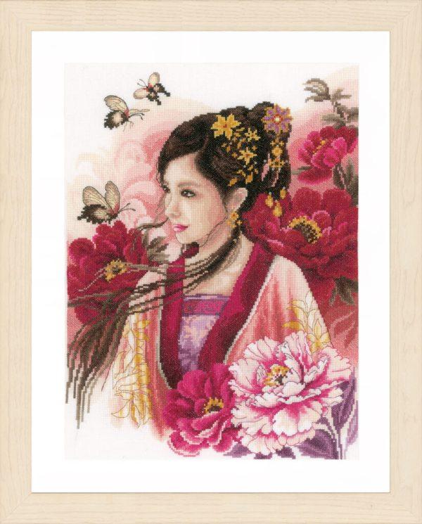 Lanarte Borduurpakket - Asian lady in pink