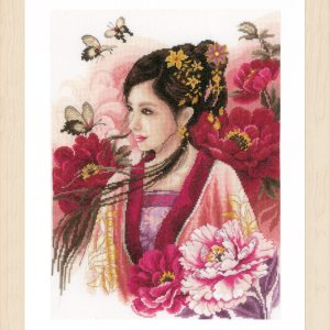 Lanarte Borduurpakket - Asian lady in pink