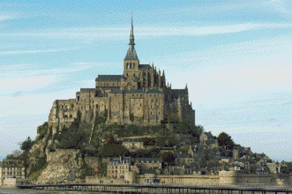 MyHobby borduurpakket - Mont Saint Michel Normandie