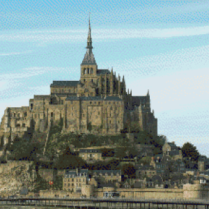 MyHobby borduurpakket - Mont Saint Michel Normandie