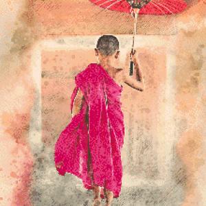 MyHobby borduurpakket - monnik jongen