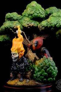 Marvel: Deadpool x Ghost Rider Q - MASTER DIORAMA
