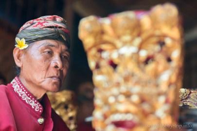 Индонезийски музикант на остров Бали