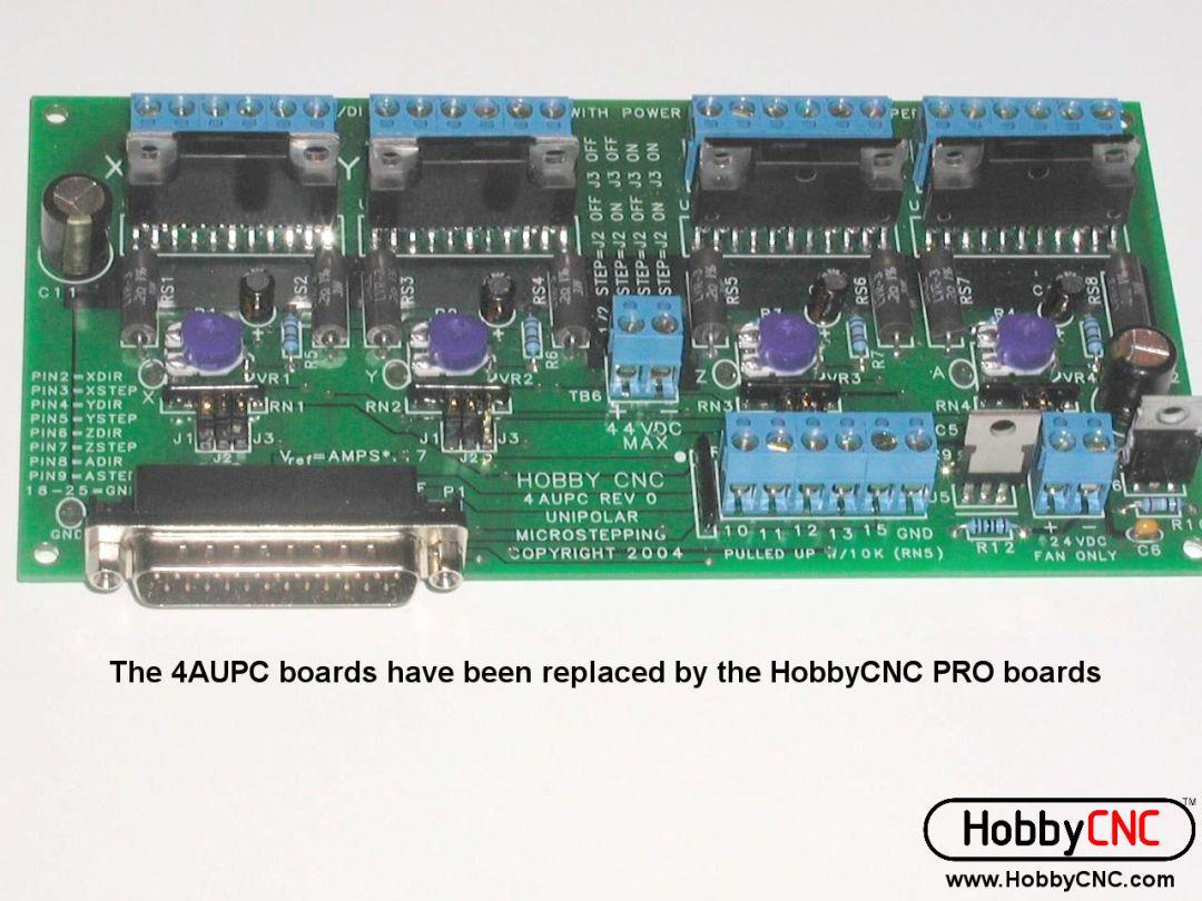 HobbyCNC 4AUPC Stepper Motor Driver Board