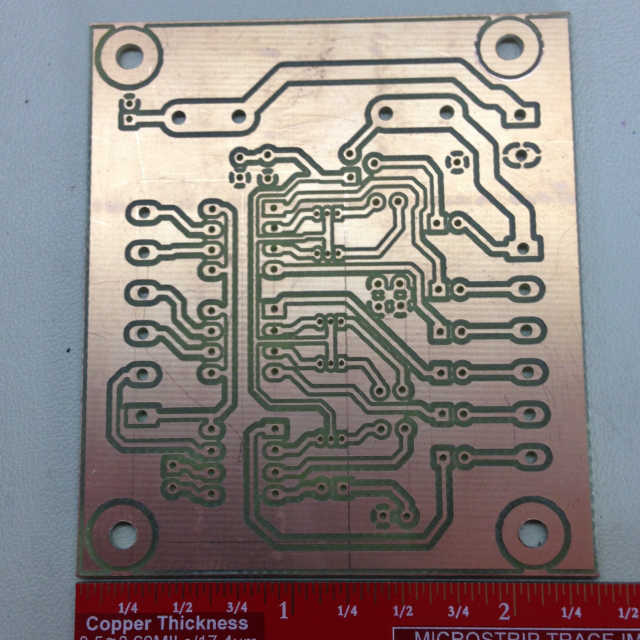 Finished PCB isolation routing using KiCAD and FlatCAM. HobbyCNC