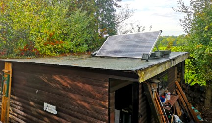 Solar-Inselanlage auf dem Schuppen, Hobbyfamilie Blog