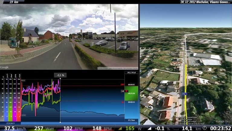 Real Life Training streetview - profiel - sateliet