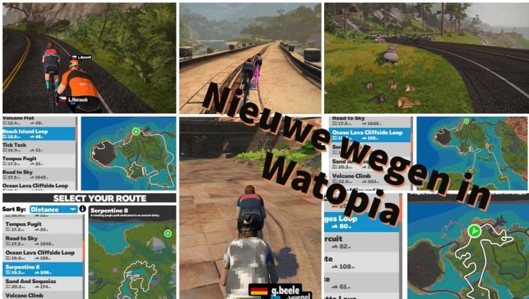 Nieuwe wegen in Watopia