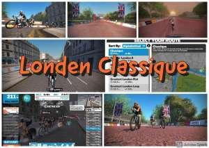 Londen Classique - fietsen in Zwift
