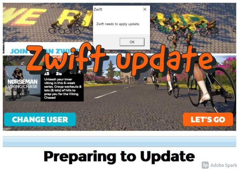 Zwift update