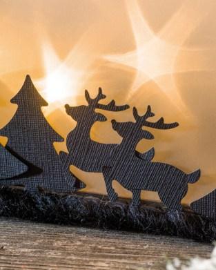 Winterwald mit Sternenfolie