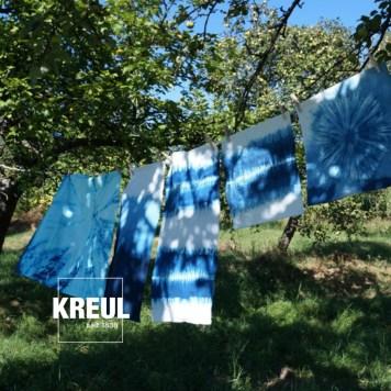 Sommerliche Batik-Stoffbezüge
