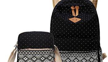 e93bcd98a6ff Abshoo Canvas Dot Backpack Cute Lightweight Teen Girls Backpacks School  Shoulder Bags