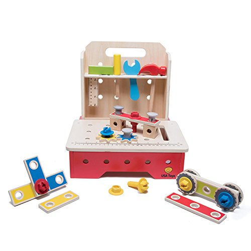 Toy Workbench And Toddler Tool Set 29 Piece Foldable
