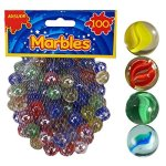 100-x-CLASSIC-RETRO-GLASS-COLOURED-MARBLES-KIDS-TOYS-PARTY-BAG-FILLERS-STUFFERS-by-PMS-International-Group-0