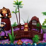 15-Piece-Super-Mario-Brothers-DONKEY-KONG-Birthday-Cake-Topper-Set-Featuring-Donkey-Kong-and-Friends-Characters-and-Decorative-Themed-Accessories-0-0