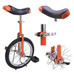 18-Inches-Wheel-Skid-Proof-Tread-Pattern-Unicycle-W-Stand-Uni-Cycle-Bike-Cycling-ORANGE-0-1