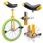20-Inches-Uni-Cycle-Bike-Wheel-Skid-Proof-Tread-Pattern-Unicycle-Cycling-Yellow-Green-0