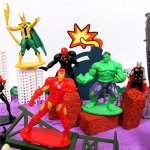 20-Piece-AVENGERS-FRIENDS-SUPER-HERO-Birthday-Cake-Topper-Set-Featuring-Avenger-Super-Hero-Crew-Characters-and-Decorative-Themed-Accessories-0-0