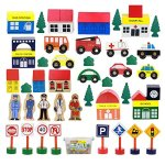 50-Piece-Wooden-Modern-Town-Train-Set-With-Accessories-Comes-In-A-Clear-Container-Compatible-With-All-Major-Brands-0