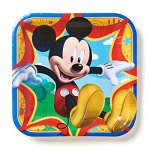 American-Greetings-Mickey-Mouse-Square-Plate-0