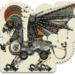 Artifact-Puzzles-Diego-Mazzeo-Mechanical-Griffin-Wooden-Jigsaw-Puzzle-0