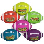 Atomic-Athletics-6-Pack-of-Neon-Rubber-Playground-Footballs–Youth-Size-7-105-Balls-with-Air-Pump-and-Mesh-Storage-Bag-by-K-Roo-Sports-0