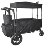 BLACK-PUSH-AND-PULL-HANDLE-WITH-REAR-FOOT-BRAKE-FOLDING-STROLLER-WAGON-W-CANOPY-OUTDOOR-SPORT-COLLAPSIBLE-BABY-TROLLEY-GARDEN-UTILITY-SHOPPING-TRAVEL-CARTFREE-CARRYING-BAG-EASY-SETUP-NO-TOOL-NEED-0