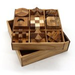 BSIRI-9-Unique-Puzzles-a-Perfect-Gift-Set-Handcrafted-Mini-Brain-Teasers-Interlocking-Wooden-Puzzle-Sets-0-1
