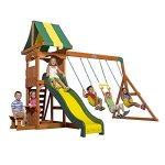 Backyard-Discovery-Weston-All-Cedar-Wood-Playset-Swing-Set-0