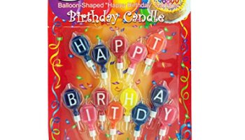 Balloon Shaped Happy Birthday Candles