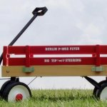 Berlin-F257-Amish-Made-Pee-Wee-Flyer-Wagon-Red-0-0