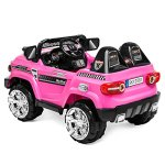 Best-Choice-Products-12V-MP3-Kids-Ride-on-Truck-Car-Rc-Remote-Control-LED-Lights-AUX-and-Music-Pink-0-1