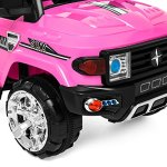 Best-Choice-Products-12V-MP3-Kids-Ride-on-Truck-Car-Rc-Remote-Control-LED-Lights-AUX-and-Music-Pink-0-2