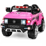 Best-Choice-Products-12V-MP3-Kids-Ride-on-Truck-Car-Rc-Remote-Control-LED-Lights-AUX-and-Music-Pink-0