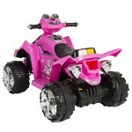 Best-Choice-Products-Pink-Kids-Ride-On-ATV-Quad-4-Wheeler-12V-Battery-Electric-Power-Led-Lights-Music-0-2