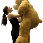 Big-Plush-Personalized-Giant-5-Foot-Teddy-Bear-Premium-Soft-Customized-with-Your-Message-Unique-Gift-for-Valentines-Day-or-Any-Occasion-Hand-stuffed-in-the-USA-Not-Vacuum-Packed-0-2