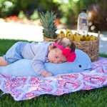 Blow-the-Blue-Beluga-Whale-Plush-Large-Stuffed-Animal-Shark-for-Children-2-Feet-Long-by-Buddy-Plush-0-0