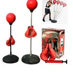 Boxing-punching-speed-ball-boxing-bag-anti-stress-fitness-with-boxing-glove-for-Teenagers-and-Adults-Adjustable-48-to-59-in-Height-New-0