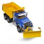 Bruder-MACK-Granite-Dump-Truck-with-Snow-Plow-Blade-0-0