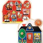 Bundle-Includes-2-Items-Melissa-Doug-Farm-Animals-Jumbo-Knob-Wooden-Puzzle-and-Melissa-Doug-First-Shapes-Jumbo-Knob-Wooden-Puzzle-0