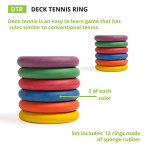 Champion-Sports-Deck-Tennis-Rings-Outdoor-Party-Beach-Playground-Game-for-Adults-Kids-Families-Set-of-12-Rubber-Disks-for-Tennikoit-Games-0-1