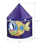 Children-Play-Tent-Premium-Space-Castle-Pop-Up-Kids-Playhouse-by-Wonder-Space-Comes-with-Carrying-Case-Best-Christmas-Indoor-Outdoor-Gift-for-Boys-and-Girls-0-0