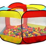 Click-N-Play-Value-Pack-of-400-Phthalate-Free-BPA-Free-Crush-Proof-Plastic-Ball-Pit-Balls-6-Bright-Colors-in-Reusable-and-Durable-Storage-Mesh-Bag-with-Zipper-0-1