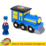 Conductor-Carl-100-Piece-Wooden-Train-Track-Town-Starter-Set-0-2