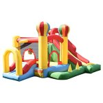 Costzon-Inflatable-Bounce-House-Mighty-Balloon-Slide-Bouncer-Kids-Jump-w-Basketball-50-PCS-Balls-Without-Blower-0