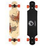 DGWBT-Bamboo-Maple-41-inch-Drop-Through-Longboard-Skateboard-Complete-0
